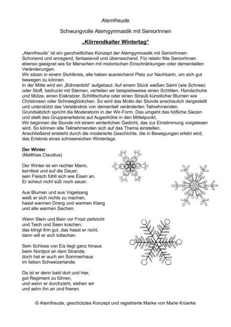 "Atemfreude ""Klirrendkalter Wintertag"""