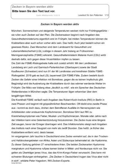 Zecken in Bayern werden aktiv