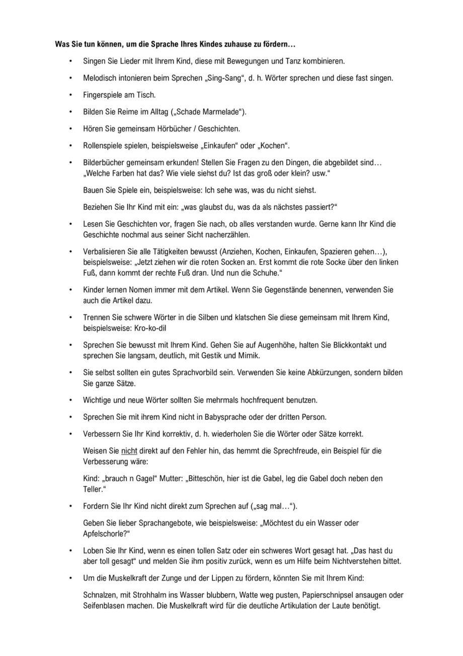 Infoblatt allgemeine Sprachförderung