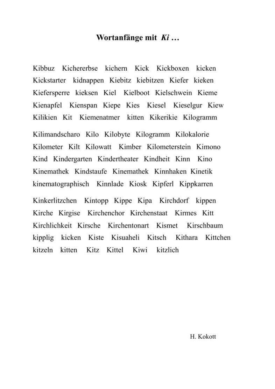 Ki-Wortliste