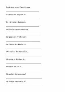 Trennbare Verben: Präfix falsch/richtig-Entscheidung