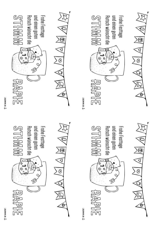 Weihnachtskarte Stimmtherapie von logowiwi.de