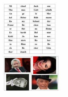 Silbenanagramme Prominente mit Bildern