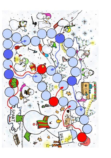 Schneemannspiel in Farbe