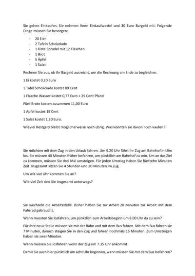 Zahlenarbeit für Restapahasien