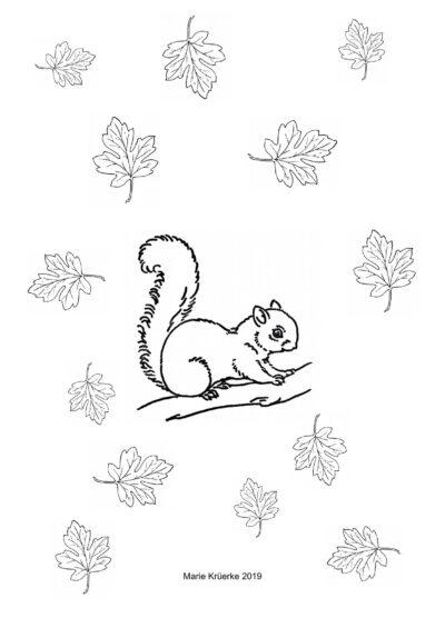 """Pustespiel """"Eichhörnchen"""": Mundmotorik im Herbst"""
