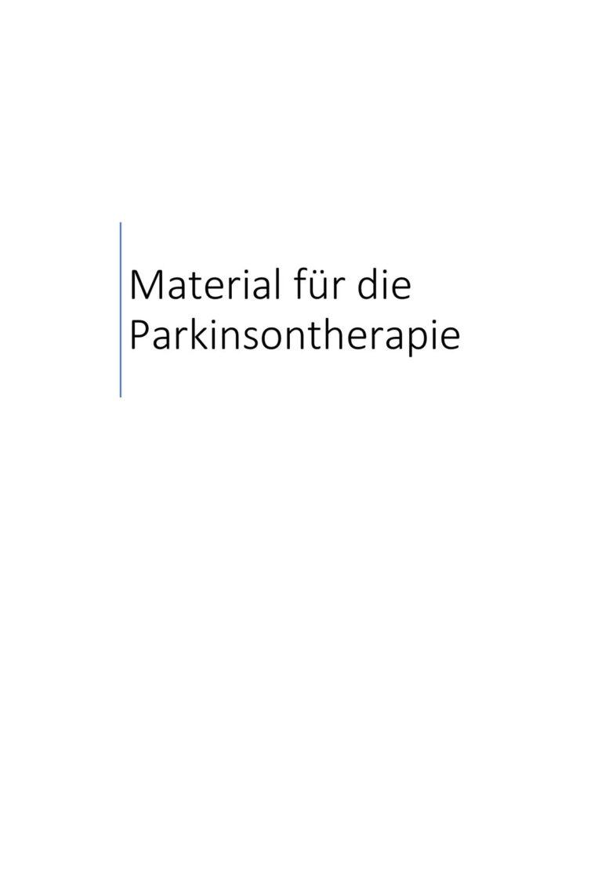 Material für die Parkinsontherapie