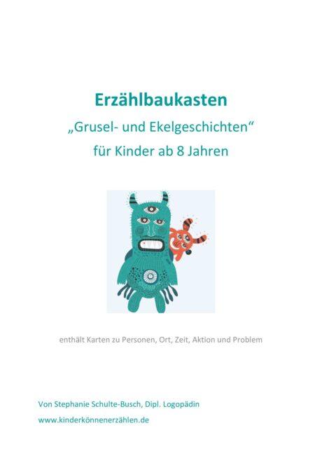 """Erzählbaukasten """"Grusel- und Ekelgeschichten"""""""