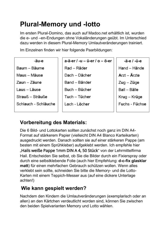 Plural-Memory und -Lotto