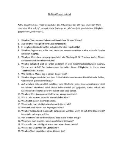 Rätselfragen mit ch1