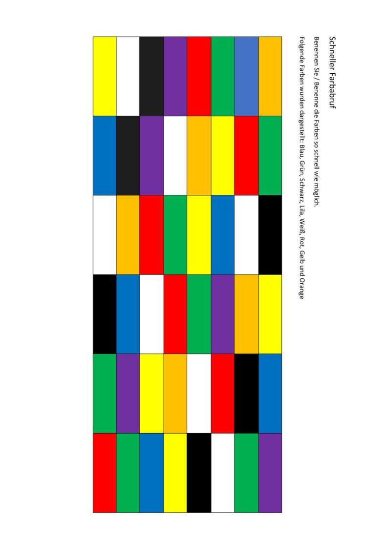 Farben benennen – schneller Abruf