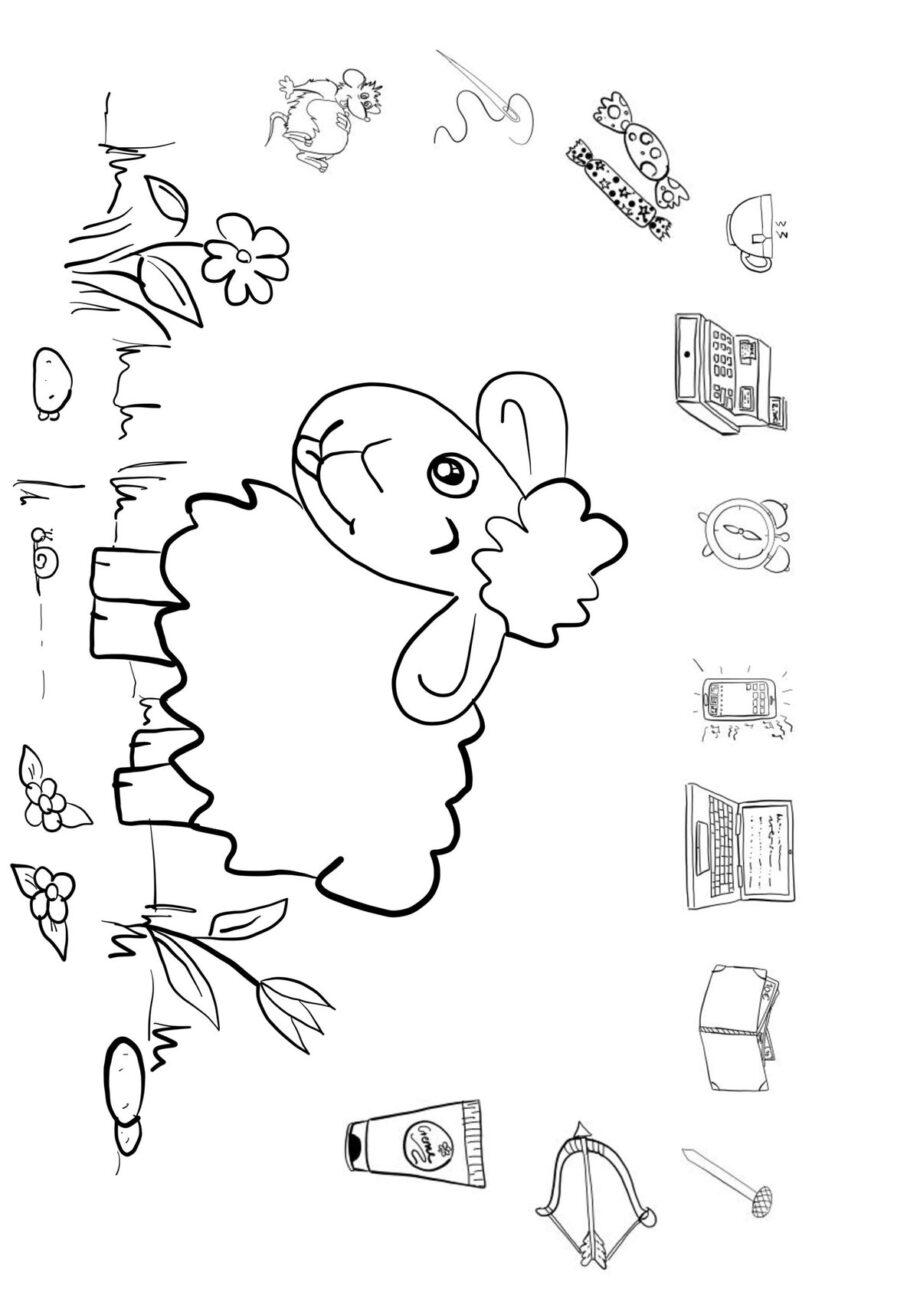 Das Schaf frisst