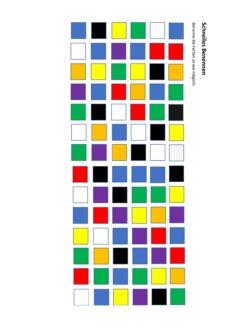 Schnelles Benennen – Farben