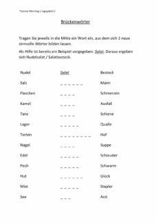 Brückenwörter (2)
