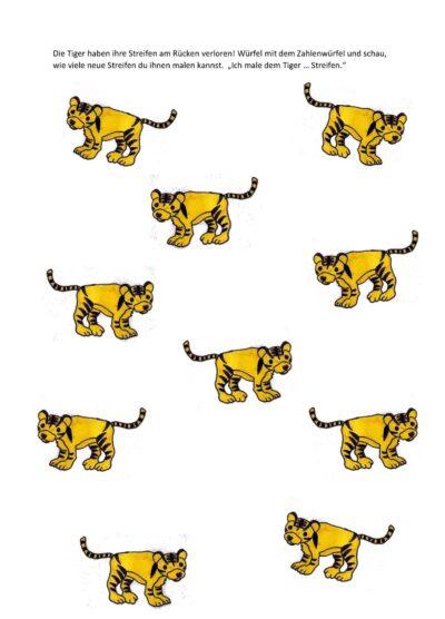Dativ – Tiger Streifen malen