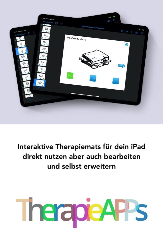 Interaktive TherapieAPPs für dein iPad