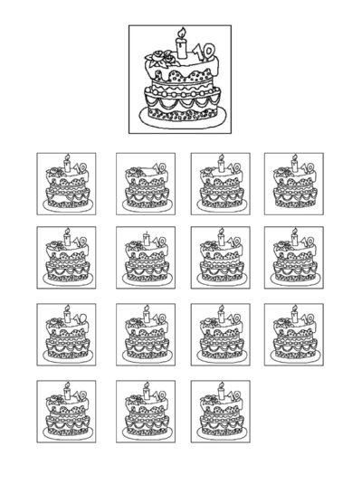 Was fehlt: Kuchen