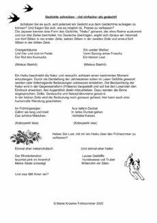 Gedichte schreiben: Japanische Haikus