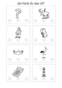 Bildkarten Lautlokalisation Chitismus