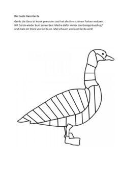 Die bunte Gans Gerda /g/