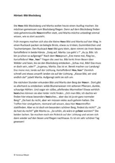 Hörtext Bibi Blocksberg