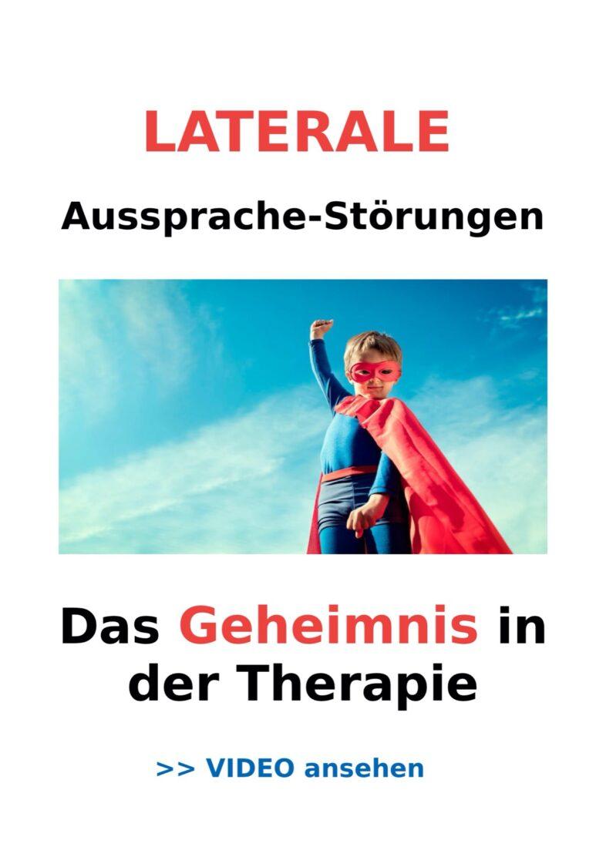 Laterale Aussprachestörungen – Das Geheimnis in der Therapie