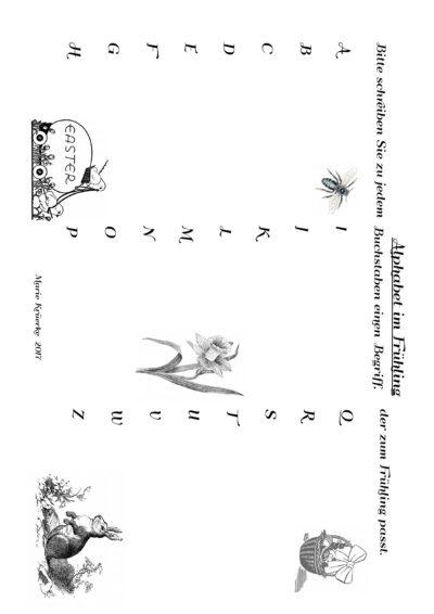 Alphabet im Frühling
