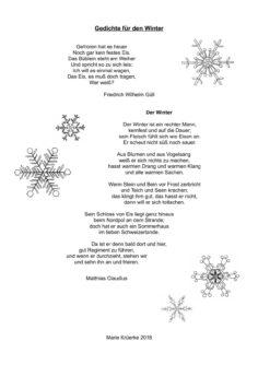 Gedichte für den Winter