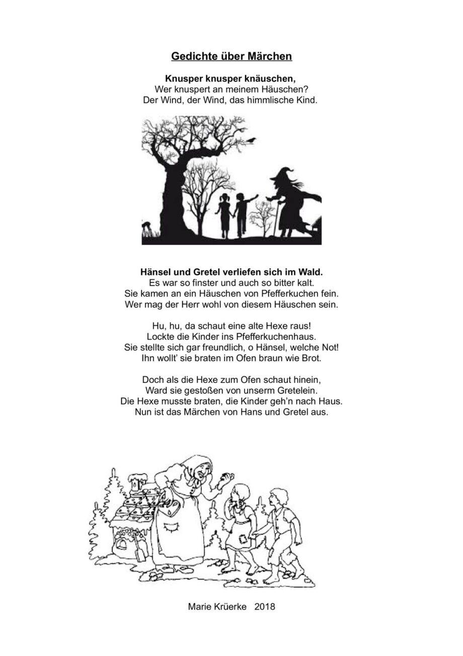 Gedichte und Sprüche über Märchen