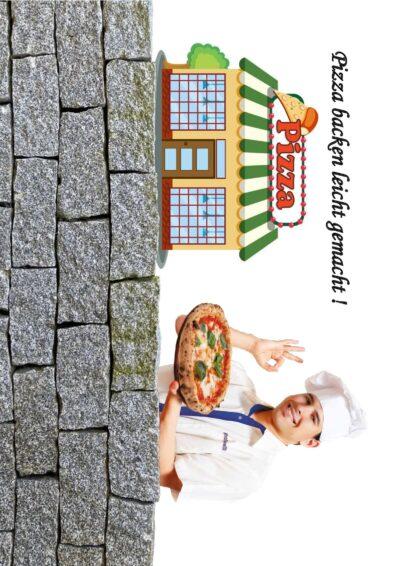 Pizza zubereiten / ausschneiden, belegen, backen und essen