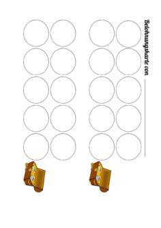 Belohnungskarte Stempelkarte