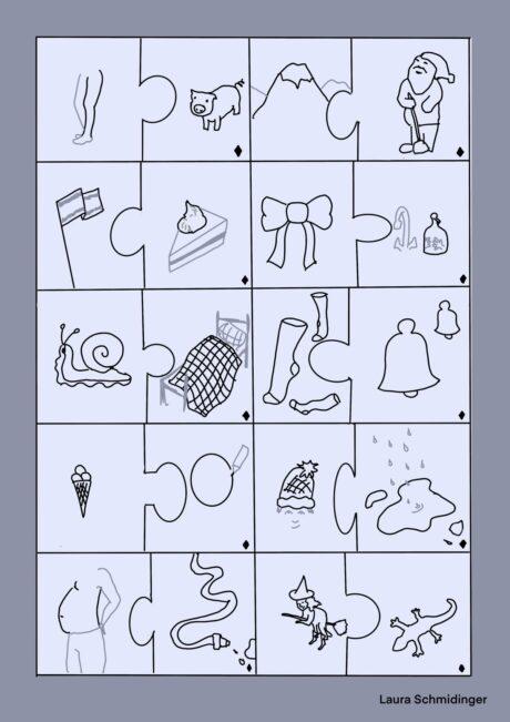 Kindersprache Reimpuzzle