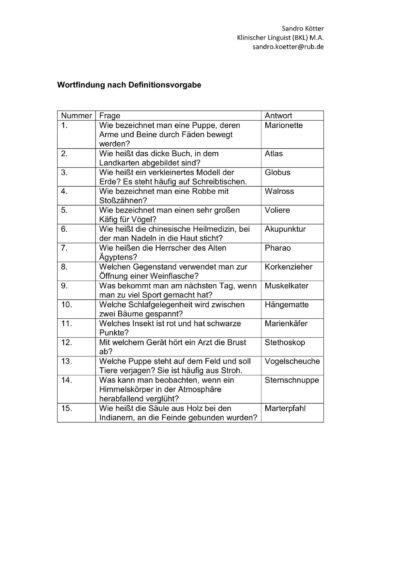 Wortfindung (3)