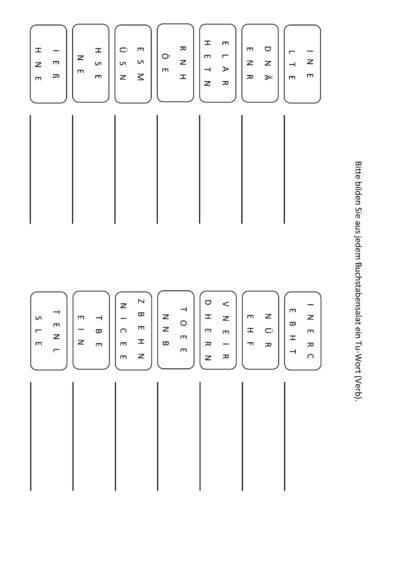 Anagramme Verben (5)