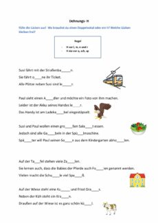 Dehnungs- H: Lückentexte