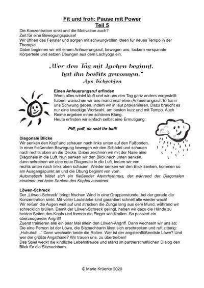 Fit und froh: Pause mit Power, Teil 5