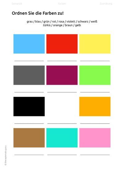 Aufgaben zur Farbsemantik