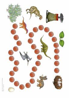 Spielfeld Dinosaurier