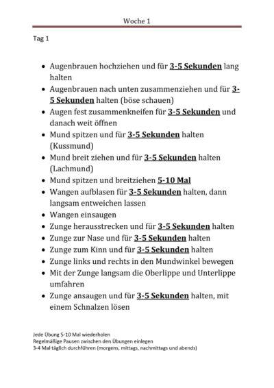 Wochenplan für Dysarthriker (1)