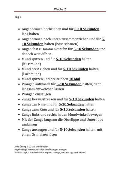 Wochenplan für Dysarthriker (2)