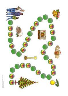 Spielfeld Weihnachten mit Aktionsfeldern