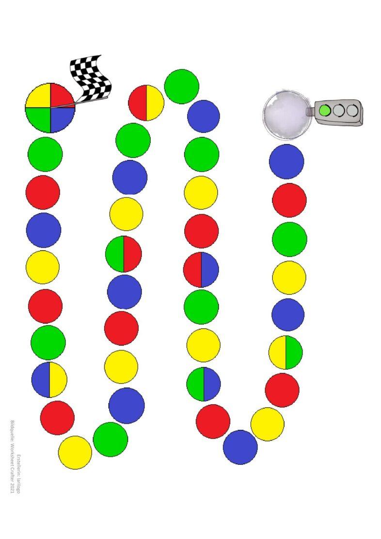 Spielfeld Vier Farben