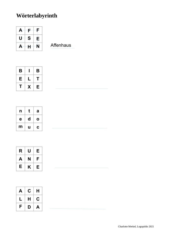 Wörterlabyrinth