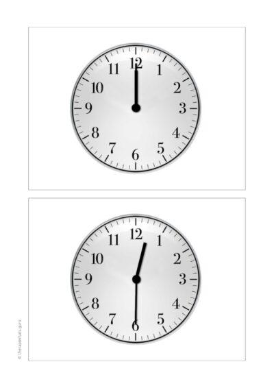 Bildkarten Uhrzeiten
