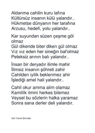 Türkisches Gedicht für Stimmtherapie