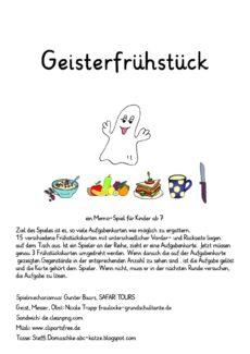 Sigmatismusspiel: Geisterfrühstück