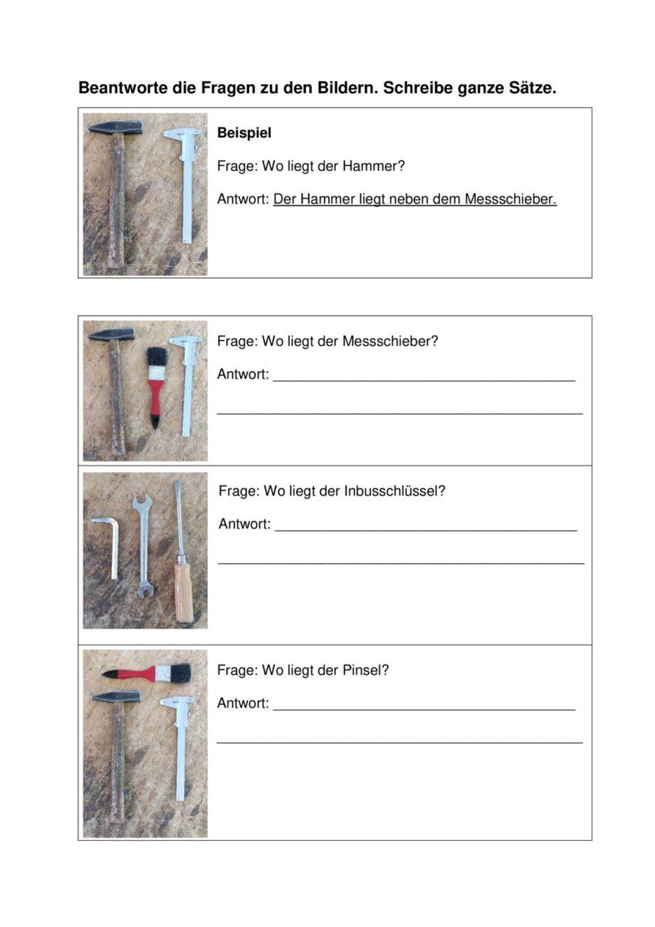 Präpositionen Satzebene Werkzeuge