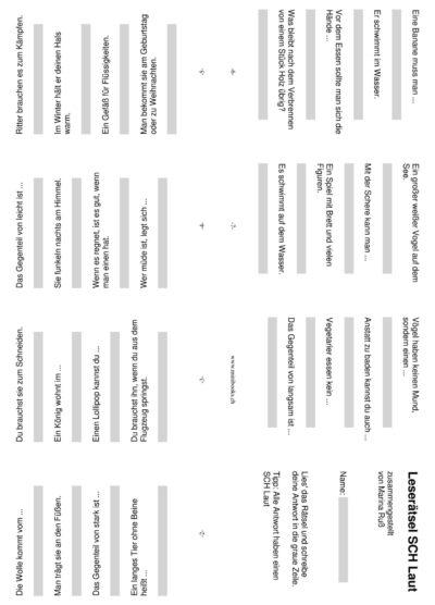 SCH Rätsel Minibuch