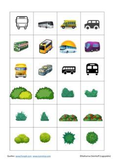 Minimalpaare Bus und Busch