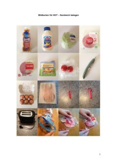 Bildkarten für HOT – Sandwich belegen
